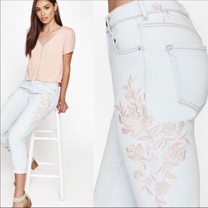 Kendall & Kylie embroidered jeans 25